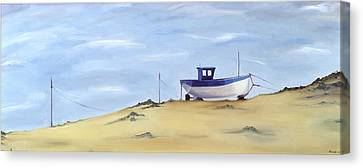 Beached Canvas Print by Ana Bianchi