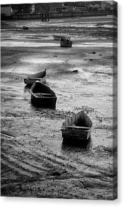 Canvas Print featuring the photograph Beached Boats by Gary Slawsky