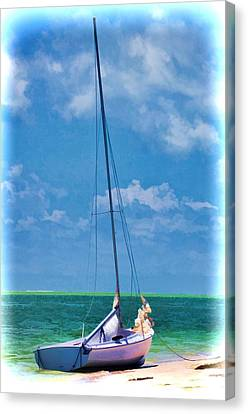 Beached Sailboat Canvas Print