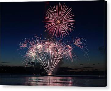 Beachfest Fireworks 2013 Canvas Print by Randy Hall