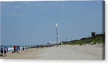 Beachside Launch Canvas Print
