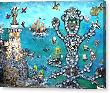 Beachside Mural Canvas Print