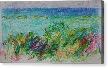 Beachview Cyprus Canvas Print by Anita Dale Livaditis
