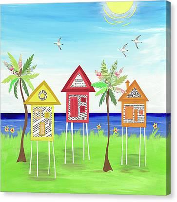Beachville Canvas Print by Jennifer Peck