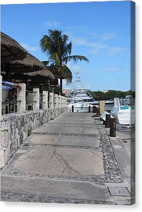 Beachwalk Canvas Print