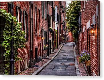 New England Autumn Canvas Print - Beacon Hill Boston by Carol Japp