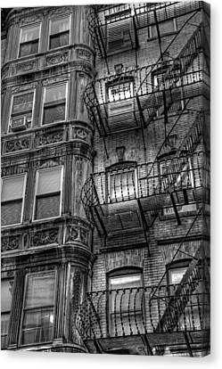 Beacon Hill Brownstone Tenement - Boston Canvas Print