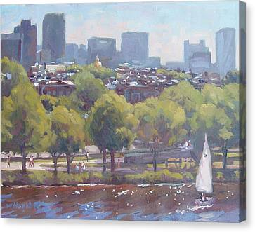 Beacon Hill Canvas Print by Dianne Panarelli Miller