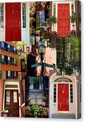Beacon Hill  Windows Doors And More Canvas Print by Caroline Stella