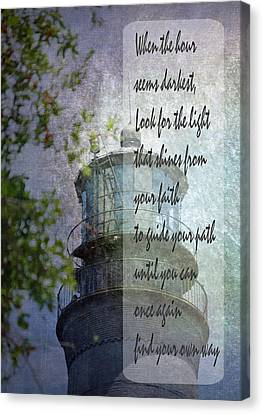 Beacon Of Hope Inspiration Canvas Print by Judy Hall-Folde
