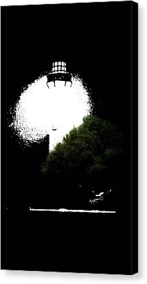 Canvas Print featuring the digital art Beacon Of Light by Anthony Fishburne