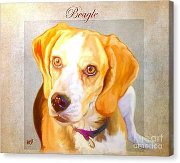Beagle Art Canvas Print by Iain McDonald
