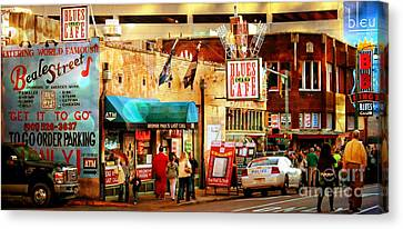 Beale Street Canvas Print by Barbara Chichester