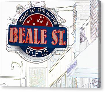 Beale Street Home Of The Blues Canvas Print
