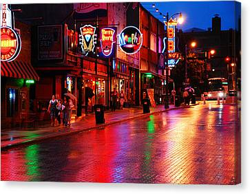 Beale Street Memphis Canvas Print by James Kirkikis