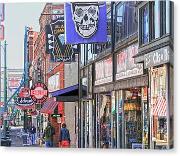 Beale Walk Canvas Print by Suzanne Barber
