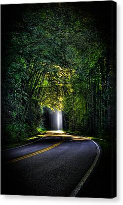 Beam Me Up Great Smoky Mountains Canvas Print by Reid Callaway