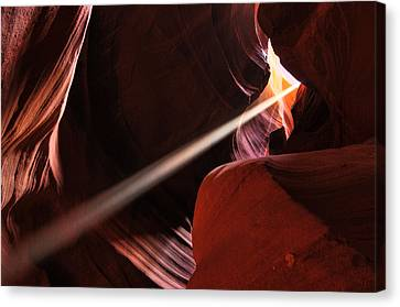 Canvas Print featuring the photograph Beams Of Light by Dan Myers