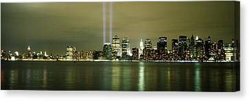 Beams Of Light, New York, New York Canvas Print by Panoramic Images