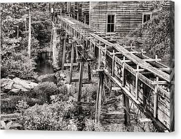 Bean's Mill In Black And White Canvas Print by JC Findley