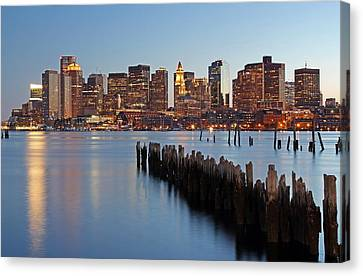 Custom House Tower Canvas Print - Beantown by Juergen Roth