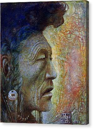 Bear Bull Shaman Canvas Print