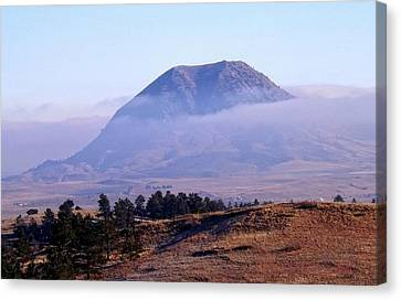 Bear Butte Fog Canvas Print