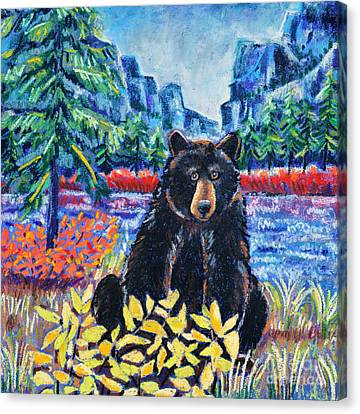 Bear By The Lake Canvas Print by Harriet Peck Taylor