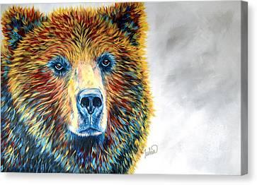 Bear Daze Canvas Print by Teshia Art