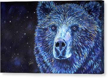 Bear Dreams Canvas Print by Teshia Art