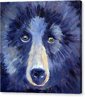 Bear Face Canvas Print by Nancy Merkle