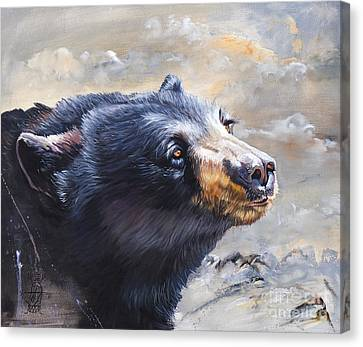 Indigenous Wildlife Canvas Print - Four Winds Bear by J W Baker