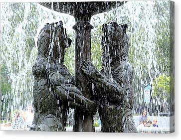 Bear Fountain Canvas Print