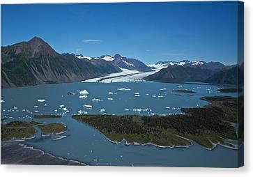Canvas Print featuring the photograph Bear Glacier Seward Alaska by Michael Rogers