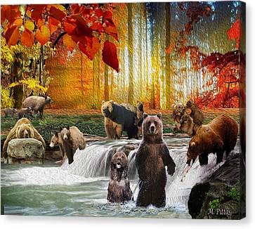Bear Heaven Canvas Print