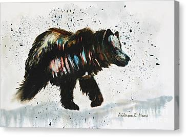 Bear Hunter Canvas Print by Anderson R Moore