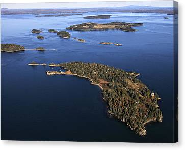 Bear Island And Barred Butter Islands Canvas Print