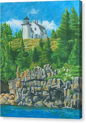 Maine Landscape Canvas Print - Bear Island Lighthouse by Dominic White