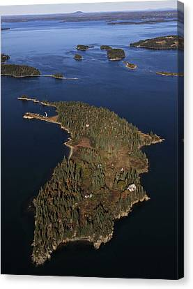 Bear Island, Penobscot Bay Canvas Print by Dave Cleaveland