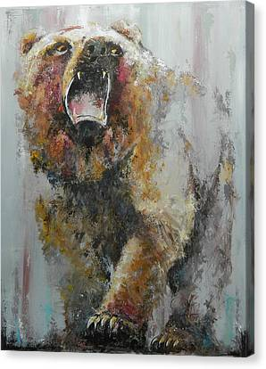 Animal Abstract Canvas Print - Bear Market by John Henne