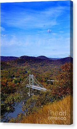 Canvas Print featuring the photograph Bear Mountain Bridge From Camp Smith Trail by Rafael Quirindongo