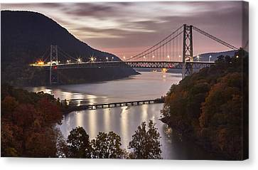 Park Scene Canvas Print - Bear Mountain In The Fall by Eduard Moldoveanu