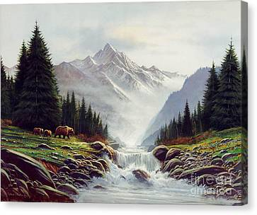 Salmon Canvas Print - Bear Mountain by Robert Foster