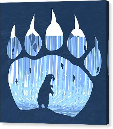 Salmon Canvas Print - Bear Paw by Daniel Hapi