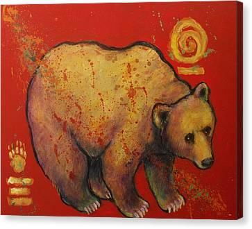 Bear Paw Grizzly Bear Canvas Print