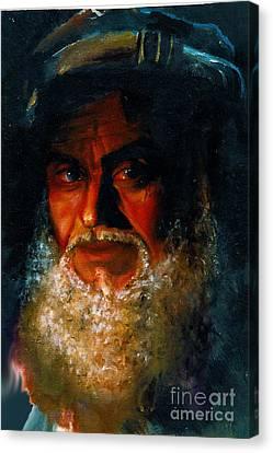 Canvas Print - Bearded Man by Donna Chaasadah