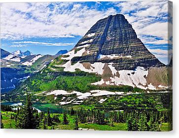 Glacier National Park Canvas Print - Bearhat Mountain by Greg Norrell