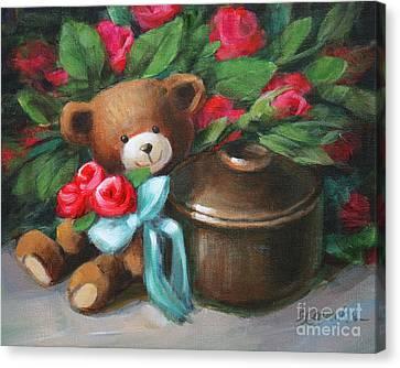 Bearing Roses Canvas Print