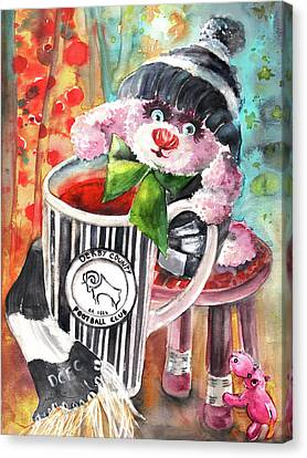 Bearnadette And Dcfc Canvas Print by Miki De Goodaboom