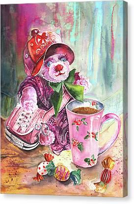 Bearnadette Canvas Print by Miki De Goodaboom